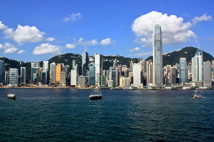 Hong Kong Island Skyline - Rep�blica Popular China